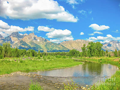 Photograph - Grand Teton And Snake River by Benny Marty