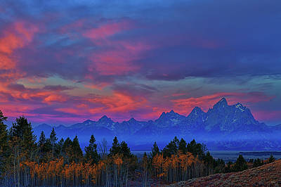 Photograph - Grand Teton Autumn Morning Light by Greg Norrell