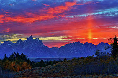Photograph - Grand Teton Autumn Sunset by Greg Norrell