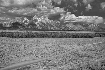 Photograph - Grand Teton In Black And White by Matthew Irvin