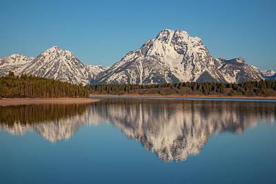 Photograph - Grand Teton Reflection 1 by Al Hann