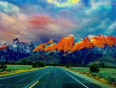 Photograph - Grand Teton Sunrise Magic by Michael Oceanofwisdom Bidwell