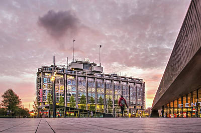 Photograph - Grand Trade Building And Central Station, Rotterdam by Frans Blok