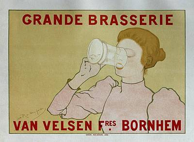 Painting - Grande Brasserie, 1894 Belgian Vintage Brewery Poster by Armand Rassenfosse