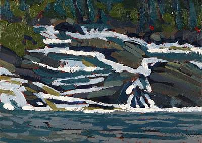 Painting - Grande Chute Cataract by Phil Chadwick