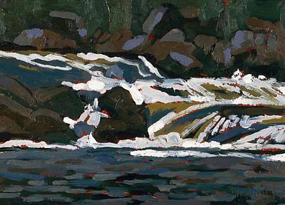 Painting - Grande Chute Ledge Torrent by Phil Chadwick