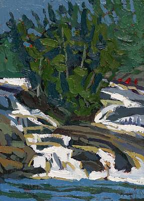 Painting - Grande Chute Waterfall by Phil Chadwick