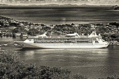 Photograph - Grandeur Of The Seas Docked At Castries, St. Lucia by Bill Swartwout Fine Art Photography
