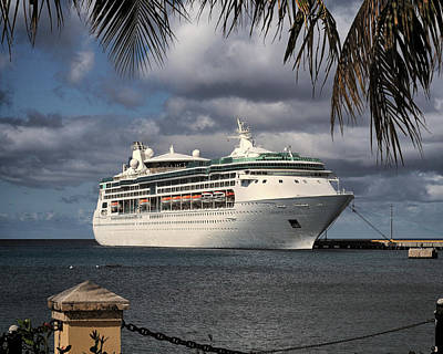 Photograph - Grandeur Of The Seas Docked At St. Croix by Bill Swartwout Fine Art Photography