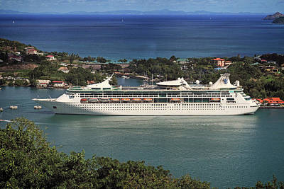 Photograph - Grandeur Of The Seas In Castries, St. Lucia by Bill Swartwout Fine Art Photography