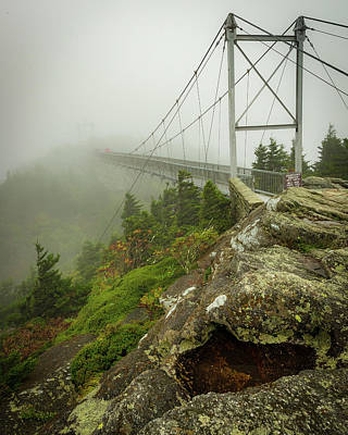 Photograph - Grandfather Mountain Swinging Bridge by Mike Koenig