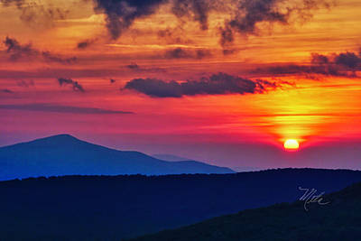 Photograph - Grandfather Mtn Sunset Swinging Bridge by Meta Gatschenberger