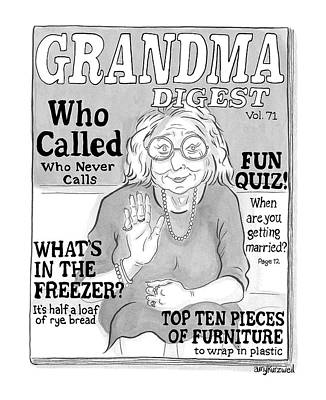Drawing - Grandma Digest by Amy Kurzweil