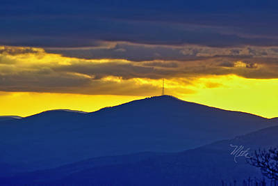 Photograph - Grandmother Mountain Sunset by Meta Gatschenberger