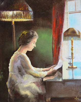 Painting - Grandmother's Letter by David Bader