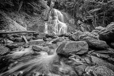 Photograph - Granville's Moss Glen Falls In Black And White by Rick Berk