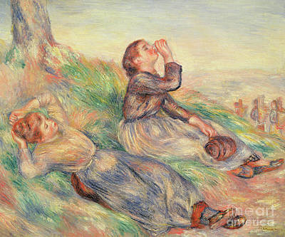 Painting - Grape Gatherers Resting, 1884  by Pierre Auguste Renoir