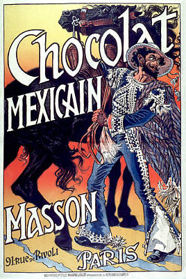 Drawing - Grasset Eugene Samuel 1892 Chocolat Mexicain  by Vintage French Advertising