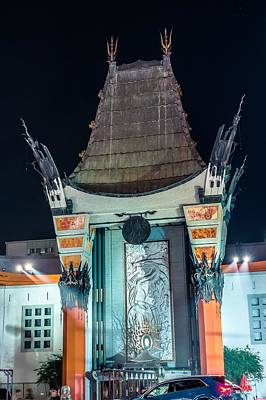 Photograph - Grauman's Chinese Theater On Hollywood Blvd Los Angeles At Night by Alex Grichenko