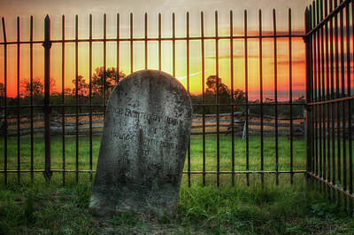 Photograph - Graveyard At Dusk by Travis Rogers