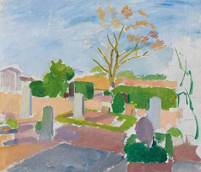 Painting - Graveyard, Christianso by Karl Isakson