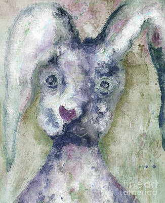 Painting - Gray Bunny Love by Claire Bull
