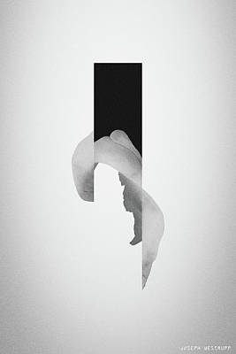Photograph - Gray Powder Bone Flare - Surreal Abstract Elephant Bone Collage With Rectangle by Joseph Westrupp