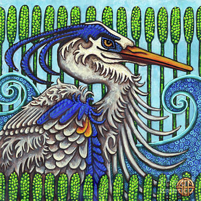 Painting - Great Blue Heron by Amy E Fraser