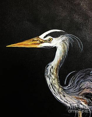 Painting - Great Blue Heron by Lizi Beard-Ward
