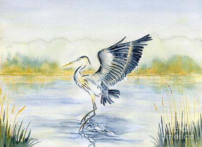 Great Blue Heron Original