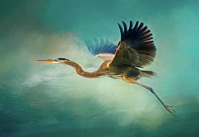 Photograph - Great Blue Heron by Robert FERD Frank