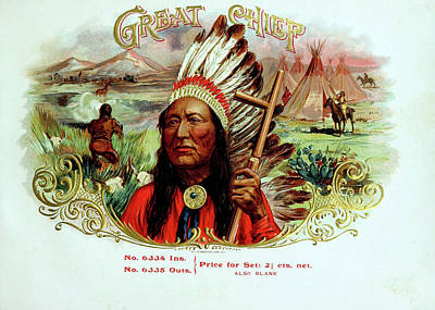 Photograph - Great Chief Vintage Cigar Advertisement by Doc Braham