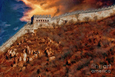 Photograph - Great Clouds Over The Great Wall China by Blake Richards