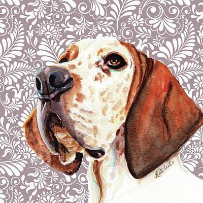 Painting - Great Dane by Jennifer Redstreake
