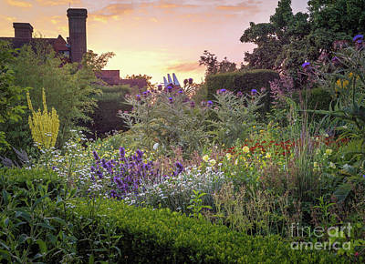 Surrealism Royalty Free Images - Great Dixter Perennial Border Royalty-Free Image by Perry Rodriguez
