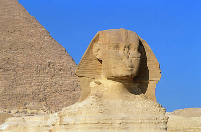 Photograph - Great Sphinx And Pyramid Of by Miles Ertman