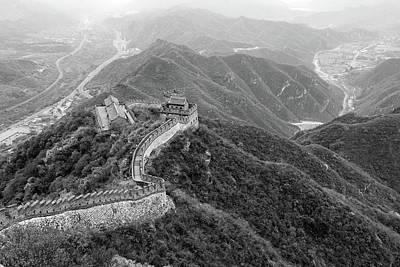 Photograph - Great Wall Of China, Monochrome by Aashish Vaidya