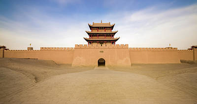 Photograph - Great Wall Of China Western Gate Jiayuguan Gansu China by Adam Rainoff