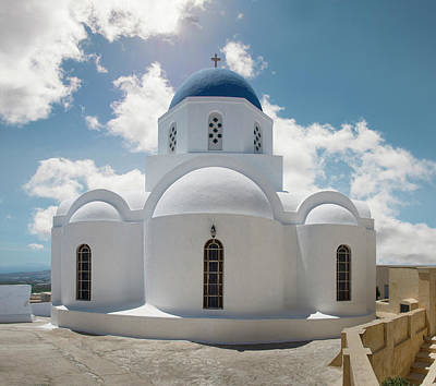 Photograph - Greek Orthodox Church, Pyrgos, Santorini by Ed Freeman