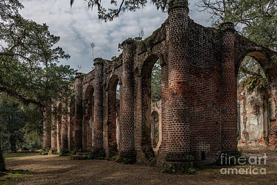 Photograph - Greek Revival Architecture - Old Sheldon Church Ruins by Dale Powell