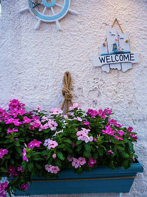 Photograph - Greek Welcome by Rae Tucker