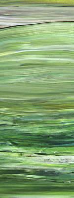 Painting Royalty Free Images - Green Abstract Meditative Brush Strokes I Royalty-Free Image by Irina Sztukowski