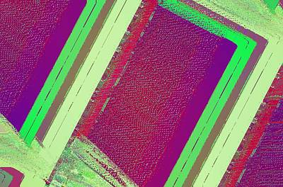 Mixed Media Royalty Free Images - Green And Red Abstract Royalty-Free Image by David Ridley