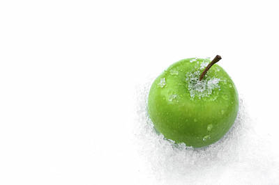 Photograph - Green Apple And Snow by Tatiana Travelways