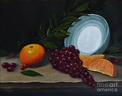 Painting - Green Bowl With Fruit by Michelle Welles