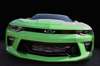 Photograph - Green Camaro by Bill Dutting