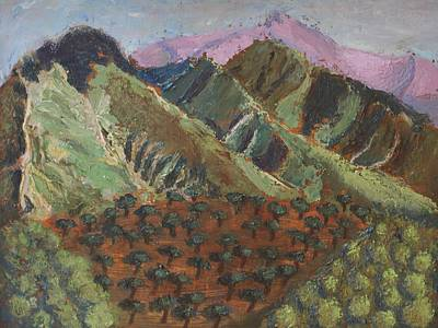 Painting - Green Canigou by Vera Smith