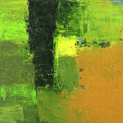 Painting - Green Envy Abstract Painting by Nancy Merkle