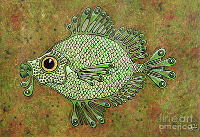 Painting - Green Fish by Amy E Fraser