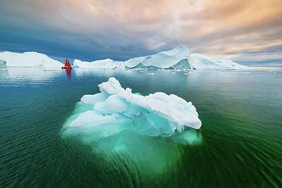 Photograph - Green Ice by Michael Blanchette
